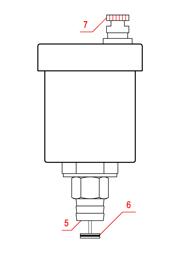 Наружная конструкция автоматического воздухоотводчика