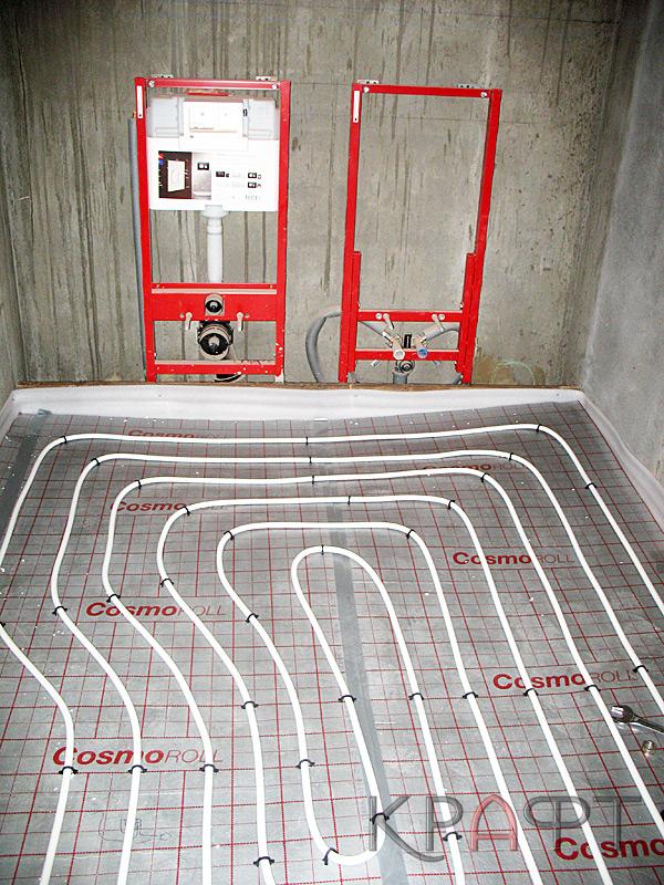 Как сделать тёплый пол в туалете 13